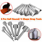 DIY Leather Craft Tools Half-Round/V Cutter Punch Strap Belt Wallet End 15-40MM