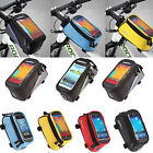 Cycling Bicycle Pannier Frame Front Tube Waterproof Cell Phone Holder Bag Pouch