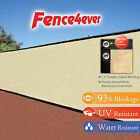Tan Beige 4' 5' 6' 8' tall Fence Windscreen Privacy Screen Shade Cover Mesh Tarp