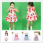Fashion Baby Girls Toddler Kids Sleeveless Party Dresses Outfit Candy Colors Dre