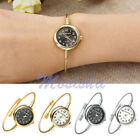 Women Alloy Metal Round Dial Quartz Bracelet Bangle Steel Wire Band Wrist Watch