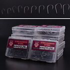 1000Pcs 10 Sizes Fishing Bait Sharpened Hook Fishhook Tackle Jig Black With box