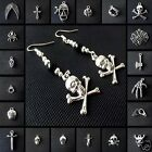 1 Pair Tibetan Silver Black Glass Pearl Gothic Emo Punk Earring Buy 2 Get 1 Free