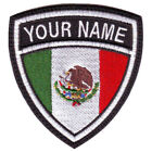 MEXICO CUSTOM CREST FLAG NAME EMBROIDERED PATCH
