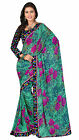 Amiable Floral Printed Faux Georgette Saree
