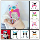 Stunning Infant Toddler Handmade Knitted Crochet Baby Hat owl hat with ear flap