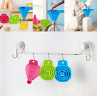 Silicone Gel Practical Collapsible Foldable Funnel Hopper Kitchen Tool NEW HOU A