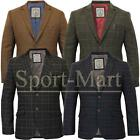 Mens Cavani Designer Tweed Check Formal Dinner Blazer Jacket Vintage Coat Size