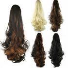 Long Wavy Ponytail Hair Hairpiece Clip-in Extension Curly Half Hair 4 Colors