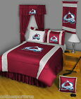 Colorado Avalanche Comforter Sham Bedskirt Pillowcase Valance Twin to King Size