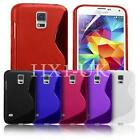 NEW S LINE WAVE GEL CASE COVER FOR SAMSUNG GALAXY S5 MINI + SCREEN PROTECTOR