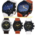 Men Luxury Sport Leather Band Strap Analog Military Casual Quartz Wrist Watch