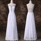 Long Chiffon Evening Formal Party Cocktail Dress Bridesmaid Prom Wedding Gown