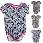 1pc Baby Newborn Floral Zebra Romper Cute Bodysuit Jumpsuit Infant Size 6-12 M