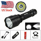 Tactical 10000LM T6 LED Hunting Lamp Flashlight Pressure Switch Gun Mount TorchLights & Lasers - 106974