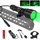 Tactical 6000LM T6 LED Hunting Light Flashlight Pressure Switch Gun Mount Torch