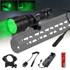 5000LM T6 LED Hunting Light Tactical Flashlight Pressure Switch Gun Mount Torch