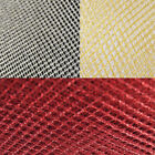 Plain Coloured Christmas Metallic Glitter Net Mesh 10% Nylon 90% Lurex Fabric