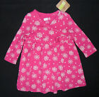 NWT: New Crazy 8 Pink Snowflake Long Sleeve Shirt, 3-6 mos
