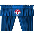 Texas Rangers Curtains Drapes and Valance Set with Tie Backs