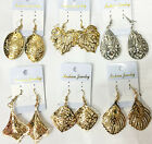 New 6Pairs Silver and Gold P Charms Drop Dangle Earrings for Women Crystal Beads