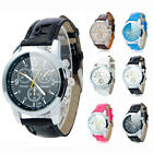 Stylish Men's Three Eyes Round Dial Leather Band Quartz Wrist Watch 5 Colors Hot