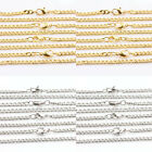 Lots 2/10Pcs Gold Silver Lobster Clasp Link Curb Jewellery Chain Necklace 5*4mm