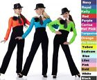 TROUBLE Jumpsuit Team Baton Cheer Halloween Tap Dance Costume Child & Adult