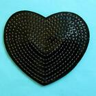 Black Heart Angry Sequins Iron on Sew Patch Applique Embroidered Biker Applique