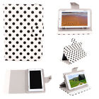 """New Polka Dot Scratch resistant Leather Stand Case Cover for 7"""" Tablet PC   Q1"""