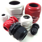 CABLE GLANDS - WHITE GREY BLACK RED GLAND ESR WATERPROOF IP68 LOCKING NUTS M, PG