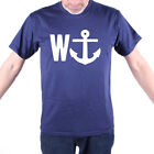 W-ANCHOR SAILING T SHIRT AN OLD SKOOL HOOLIGANS NAUTICAL ORIGINAL GREAT GIFT
