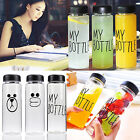 500ML My Bottle Clear Sport Plastic Fruit Juice Water Cup Portable Travel Hiking