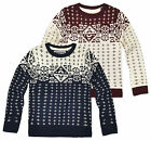 Boys Knitted Aztec Winter Jumper New Kids Christmas Knitwear Ages 2-8 Years