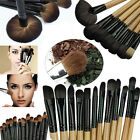 32x Professional Soft Cosmetic Eyebrow Shadow Makeup Brush Set Kit + Pouch Bag