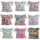 Waterproof Zipper Baby Kids Cloth Diaper Bag  Nappy Wet Dry Pouch Tote Reusable