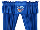 Oklahoma City Thunder Drapes Curtains & Valance Set with Tie Backs