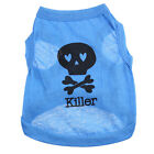 Summer Small Puppy Dog Cat Pet Clothes Skull Vest T-Shirt Apparel Costume Coat