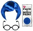 SAD EMOTION CHARACTER BLUE SADNESS FILM STAR FANCY DRESS ACCESSORY COSTUME SET