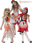 Age 4-12 Girls Zombie Princess Fairytale Costume Halloween Fancy Dress Kids