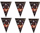 NEW Halloween 10 Flags Spooky Spiders Bunting Party Decoration 3.65m (12') Banne