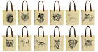 Vietsbay's English Bulldog and Cat Graphic Canvas Tote Bags with Leather Handles