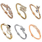 Fashion Women Charms Crystal Bracelet Rhinestone Cuff Bangle Jewelry Gift Lady