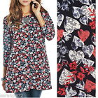 MARISOTA FLORAL LOVE HEART TUNIC TOP AUTUMN NEW SIZE 14-22 STUNNING