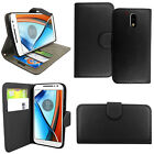 Flip Leather Wallet Stand Phone Case Cover For Motorola Moto E5 Play G4,G5,G6