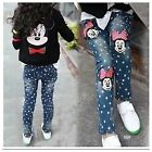 NEW girls kids pants slim Jean denim Minnie Mouse size 4yrs,5yrs,6yrs,7yrs,8yrs