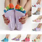 Anti-Slip Women Ankle Colorful Five Fingers Splendid Pilates Dance Socks US1