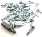 "SQUARE PAN HEAD SELF DRILLING TEK SCREW ZINC 4.2 x 13mm, 8g x 1/2"" + SQUARE BIT"