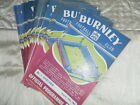 BURNLEY HOME PROGRAMMES FROM 1963/4 - CHOOSE FROM LIST