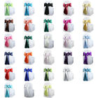 "20 pcs Satin Chair Cover Bow Sash 108""x8"" Wedding Party Banquet Reception"